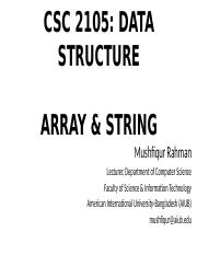 Lecture 02 - Array and String.pptx