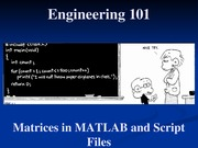 17 - Matrices in MATLAB and Script Files