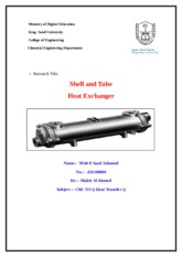 Shell and Tube Heat Exchanger (1)