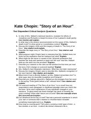 the life of mrs mallard in the novel the story of an hour by kate chopin Gender roles in kate chopin's story of an hour: a life fable kate married at the age of it is as if the window is instilling new life within mrs mallard.