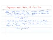 Sequences and Series of functions