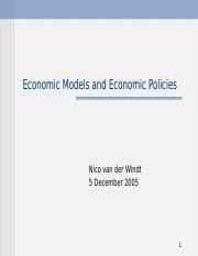 2005-12-05_Economic-Models-and-their-use-in-Preparation-of-Economic-Policies.ppt