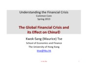 12 How the Global Crisis Affects China
