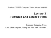 CS223B-L3-Features