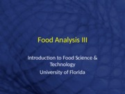 Food Analysis III