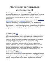 Marketing performance measurement.docx