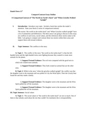 compare and contrast chart for creation myths daniel otero th  3 pages compare contrast essay outline revised