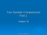 two sample comparison ppt