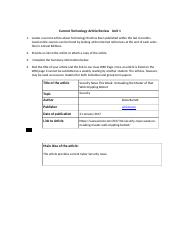 Current Article Review Form