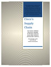Cisco Supply Chain- Assignment #2