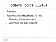 4 Invalid Argument Forms