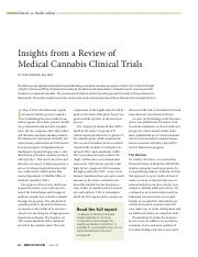 Clinical-MedMU-Rev_Arneson 2015 _Insights from a Review of Medical Cannabis Clinical Trials.pdf