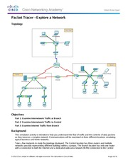 3.3.3.3 Packet Tracer - Explore a Network Instructions
