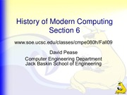 Lecture 6 - The 1990s