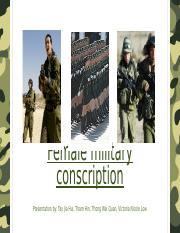 Female Conscription