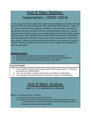 Copy of Unit 6 Topic Outline- Imperialism.docx