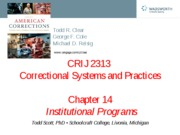 CRIJ 2313 - Chapter 14 - Fall 2011
