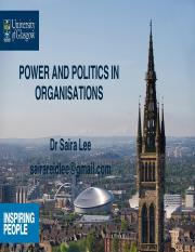 22 Power and Politics in Organisations