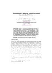 A Spatiotemporal Model and Language for Moving Objects on Road Networks
