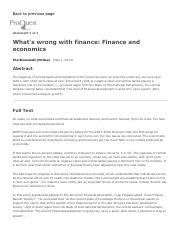 2015-05-01 (The Economist) - What's Wrong With Finance - Finance and Economics