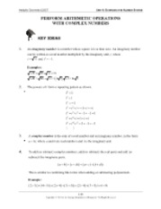 (Blank) Int Math 2 Notes and Handouts (Imaginary Numbers)