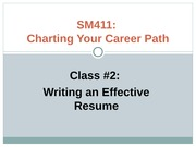 How to Write an Effective Resume PowerPoint - SM411