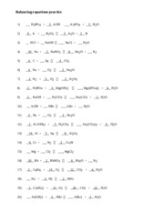 2 pages balancing equations practice student plus answers - Balancing Equations Worksheet Answers