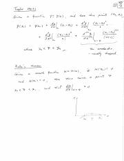 Taylor series proof