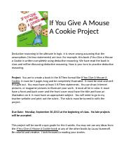 If You Give A Mouse A Cookie Project 2010-11.doc