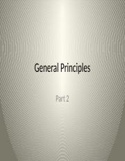 Pharmacology General Principles Part 2