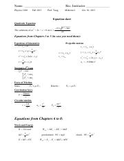 Phys1200_MT2_Equations