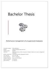 Performance management of unsupervised employees