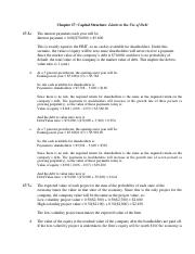 Capital Structure II Solution.pdf