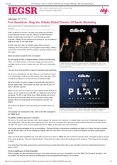 Five Questions_ Greg Via, Gillette Global Director Of Sports Marketing - IEG Sponsorship Report