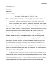 Annotated Bibliography(1)