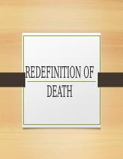 Redefinition of death 14