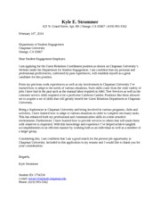 Student Engagement Cover Letter