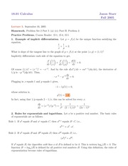 The Derivatives of Exponential and Logarithm Functions