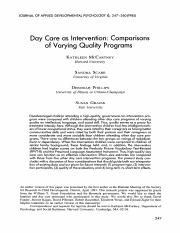 Daycare as an interventionMcCartney1985.pdf