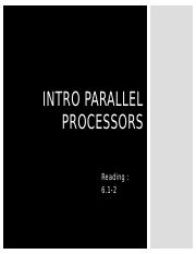 Intro parallel process