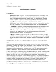 Introduction to Informative Speech