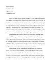 College Essay on Failure