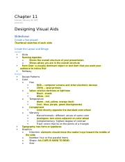 Chapter 11 Designing Visual Aids