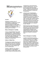 Business Article - Management Consulting