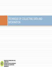 03. BPA - TECHNIQUE OF COLLECTING DATA AND INFORMATION