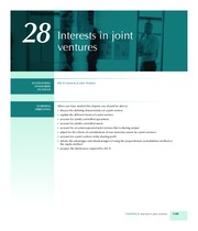 Chapter 28 Joint Ventures