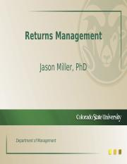 Returns Management & Reverse Logistics
