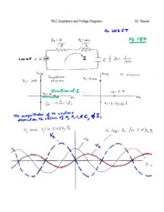 RLC Impedance and Voltage Diagrams