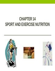 Chapter 14 - Sports and Exercise Nutrition and Ch. 11 Supplements- student notes.pptx