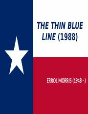 Week 9_The Thin Blue Line